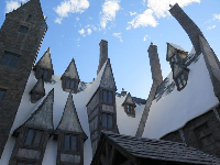Love the curving chimneys in Harry Potter land.