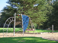 Rock-climbing section of the playground.