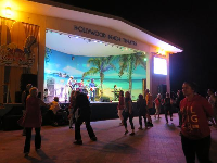 Thursday night concert with excellent rock band, The Kinected, at the Hollywood Beach Theater.