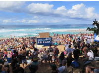 A day at the Pipeline Masters surf contest is an awesome day!