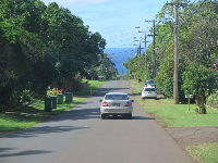 After the hike, it's a pretty drive along Pupukea Rd with the ocean in front of you.