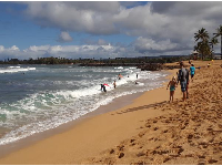 Beautiful light at Haleiwa Alii Beach.