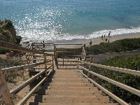 Stairs down to the beach.