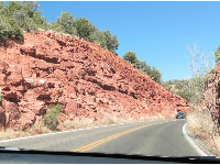 Red rock on the drive to Slide Rock.