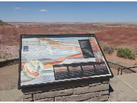 Plaques at the overlooks tell you about the desert.