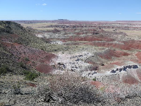 Lovely views of the painted desert.
