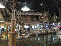 Lagoon inside the store.