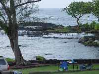 Views at Wai'olena Beach Park.