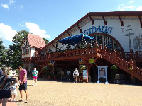 Das Festhaus from the outside.