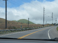 Cinder cone at mile marker 60 on Highway 19, coming in to Waimea.