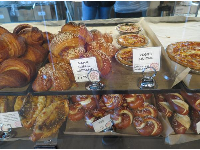 Delicious treats like Bretzel knots, at Guglhupf.