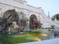 Neptune fountain at the Library of Congress.