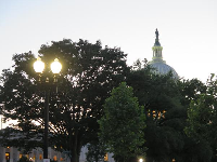 Looking toward the Capitol.