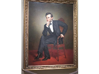 Lincoln's portrait. What a handsome man!