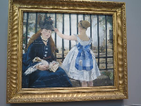 The Railway, by Edouard Manet.