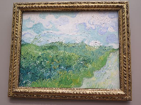 Green Wheat Fields, Auvers, by Vincent Van Gogh.