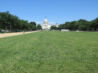 Lawn and US Capitol, as seen from outside the National Gallery of Art.