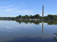 Reflection of the Washington Memorial in the Tidal Basin.