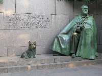 Roosevelt and his dog.