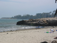 The western end of Goleta Beach, near UCSB.