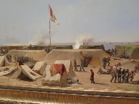 Bombardment of Fort Moultrie, Charleston Harbor, 1864, By Conrad Wise Chapman.