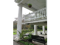 Large Southern balcony, at the mansion.