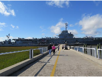 Walking across to the USS Yorktown, from Patriots Point.