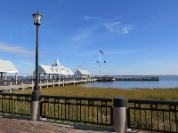 The pier with its porch swings and dolphin pods that frolick in the afternoon.