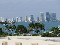 View of Maurice Gibb Park and the bay, from the top of Residence Inn Miami Beach South Beach.
