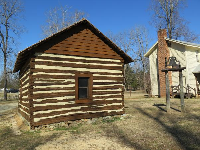 Cabin and bell.