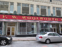 F. W. Woolworth Building, where the International Civil Rights Museum is located.