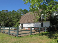 Barn and horse.