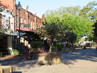 City Market, a pedestrian only area with shops and cafes.