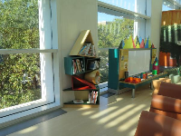 Activities in the children's area. What a beautiful space.