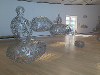 Special exhibit of floating sculptures.