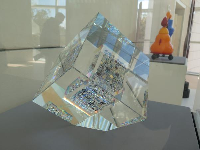 Mystic Dispersion, by Jon Kuhn. Plate glass, optical glass, and colored glass.