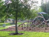 Playground by the path.
