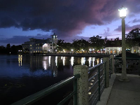 View of the lake at night from Front Street.