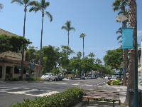 Linden Avenue, Carpinteria's mellow main strip, leads down to the ocean.