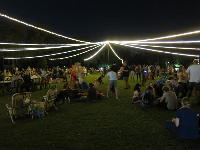 Resident event in Lakeside Park- pretty lights!