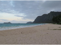End of day at Waimanalo Beach.