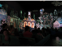 Inside It's a Small World.