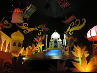 Middle Eastern dancers in It's a Small World.