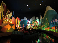 Your boat goes through many lands in It's a Small World.