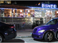 11th Street Diner, at night. This is slightly off the main strip.