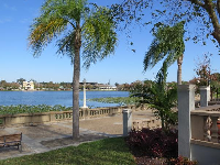 View of the lake from Hollis Garden.
