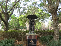 Statue near the mansion.