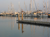 Peaceful evening at the harbor.