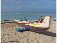Outrigger Canoe on Royal Hawaiian Beach.