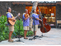 Live music at the Royal Hawaiian Shopping Center.